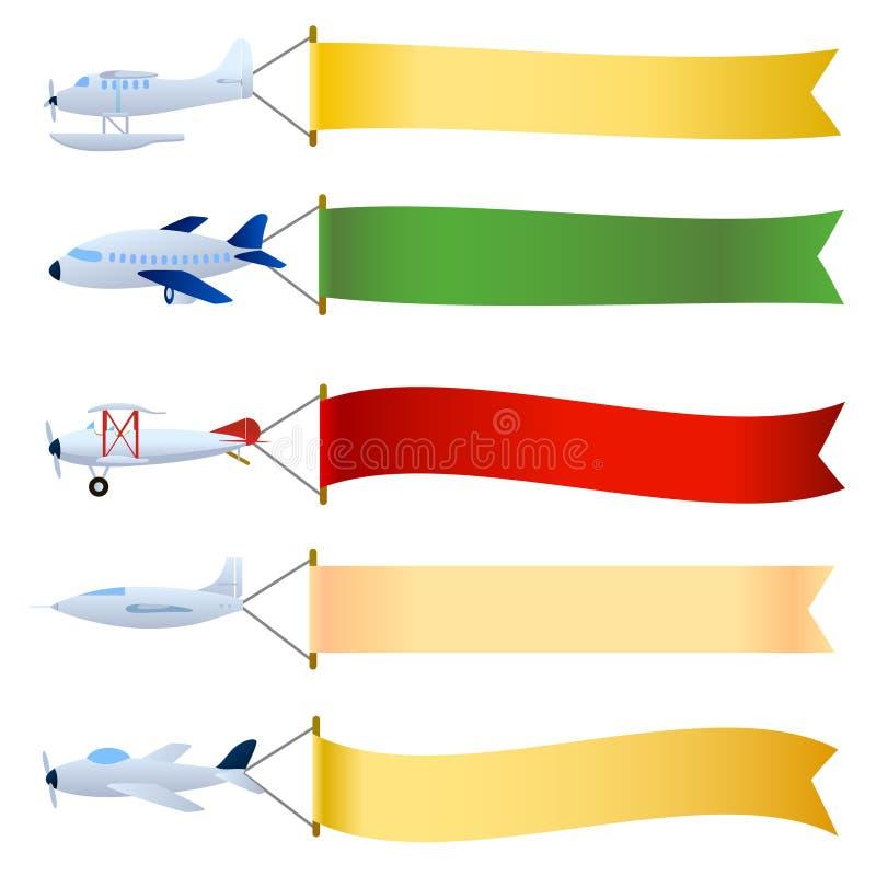 Plano con el conjunto en blanco ilustración del vector