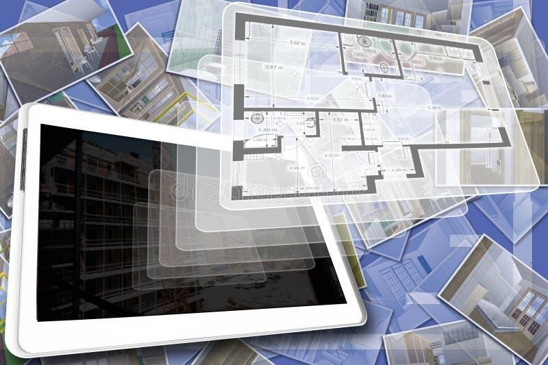 Plano da casa ilustração stock