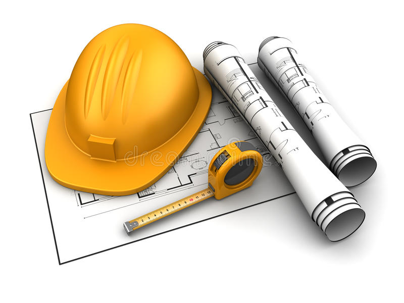 Plano da construção ilustração stock