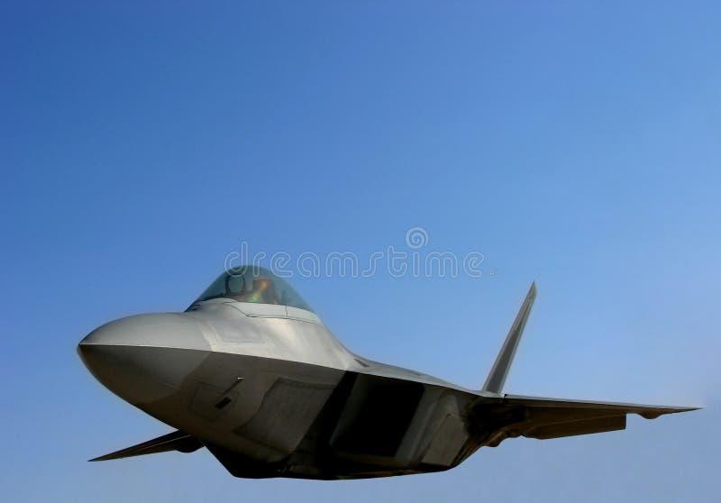 Plano da força aérea da ave de rapina F22 imagens de stock
