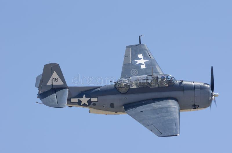 Plano da guerra do vintage de US Navy Grumman TBM-3E foto de stock royalty free