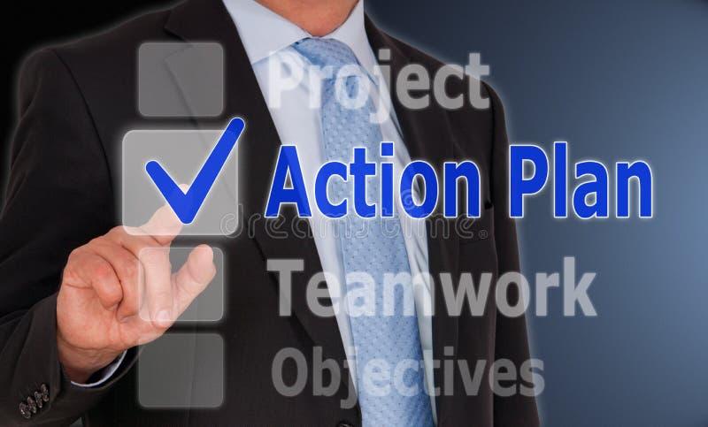Plano de ação do negócio imagem de stock