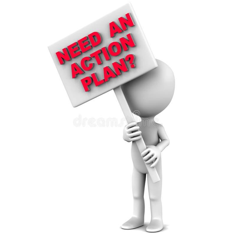 Plano de acção ilustração royalty free