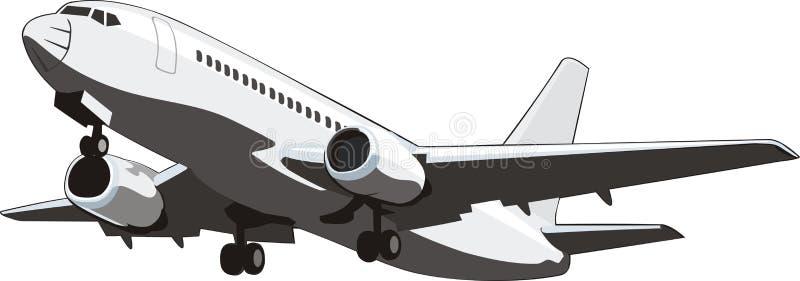 Plano de aire del pasajero stock de ilustración