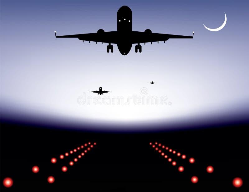 Plano de aterrizaje ilustración del vector