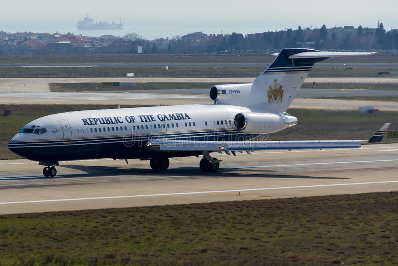 Plano de Boeing 727 fotos de stock