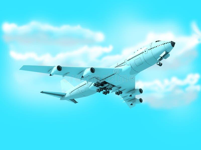 Plano de Boeing Passanger ilustração royalty free
