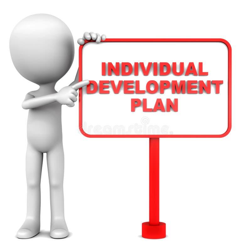 Plano de desenvolvimento individual ilustração royalty free