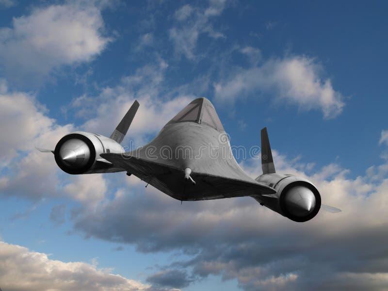 Plano de espião da guerra fria ilustração stock