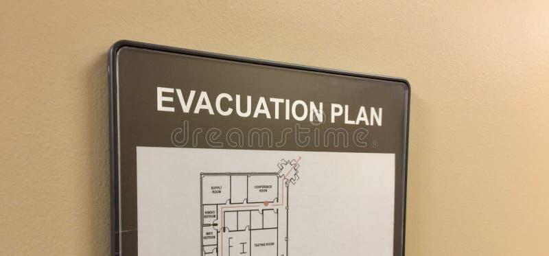 Plano de evacuação para a casa ou o escritório foto de stock royalty free