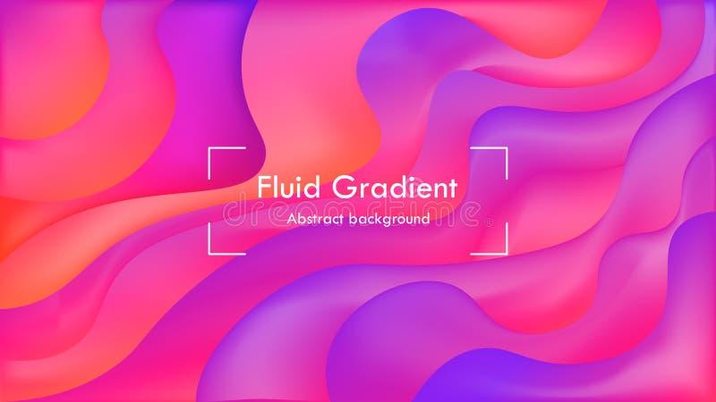 Plano de fundo abstrato de gradiente de fluido de legance, plano de fundo de cobertura de mídia social de poster elegante, plano  ilustração stock