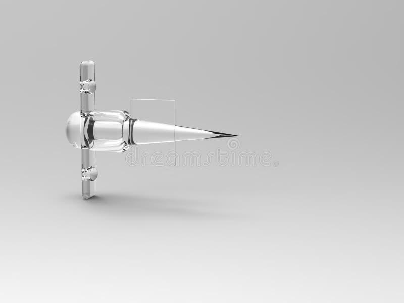 plano de jato de vidro abstrato do foguete 3d ilustração do vetor