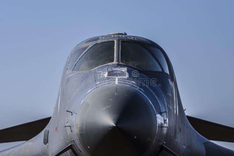 Plano de jato nuclear do bombardeiro do lanceiro de Rockwell B-1B da força aérea de E.U. fotografia de stock