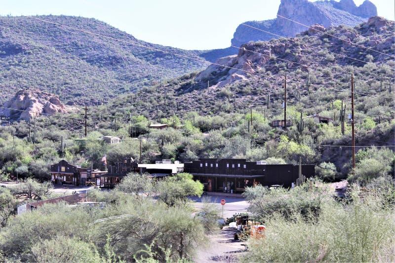 Plano de la tortilla, pequeña comunidad no constituida en sociedad anónima en el condado de Maricopa del este, Arizona, Estados U fotos de archivo