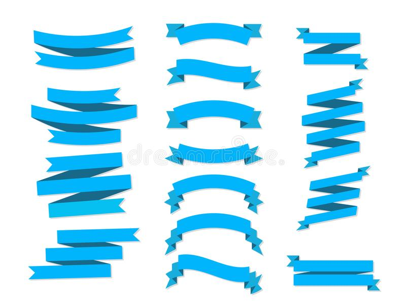 Download Plano Plano De Las Banderas De Las Cintas Del Vector Aislado En El Fondo Blanco Ilustración del Vector - Ilustración de divisa, clásico: 100535844
