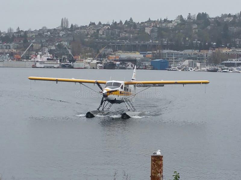 Plano de mar de Seattle imagem de stock