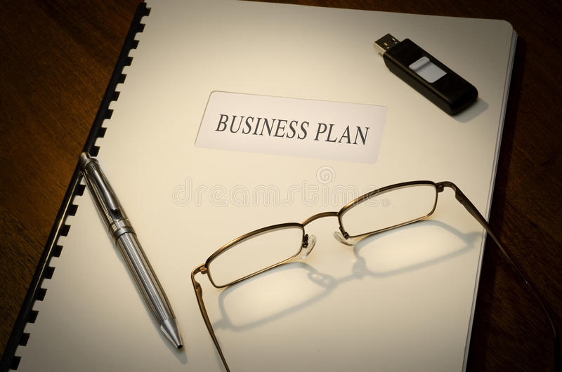 Plano de negócios imagens de stock royalty free