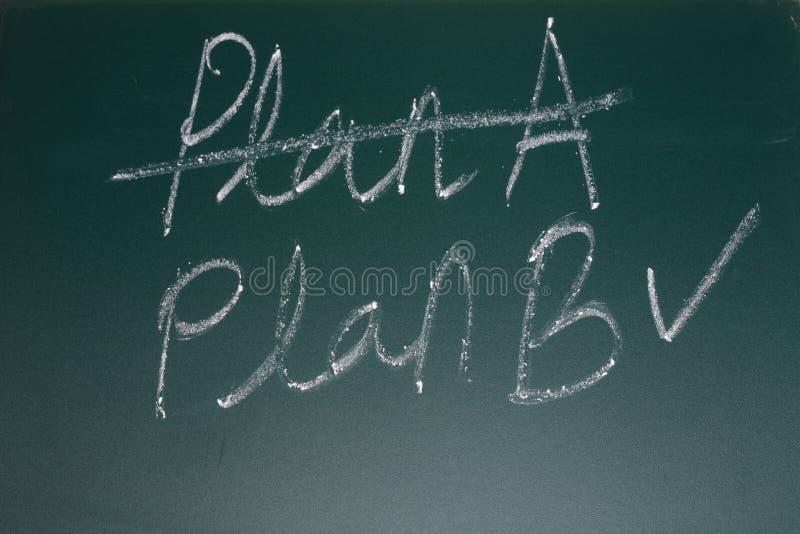 Plano de negócios alternativo imagem de stock royalty free