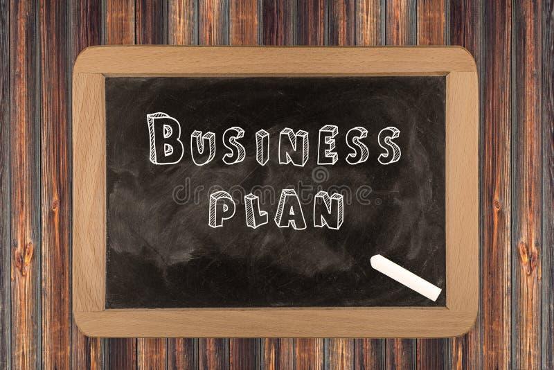 Plano de negócios - quadro fotografia de stock