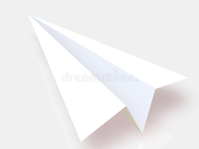 Plano de papel ilustração do vetor