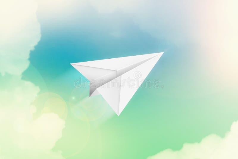 Plano de papel ilustración del vector