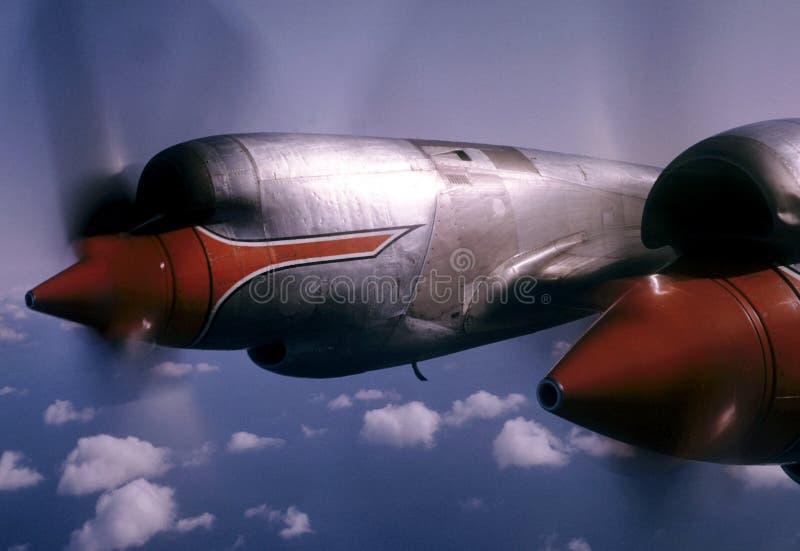 Plano de propulsor fotografía de archivo
