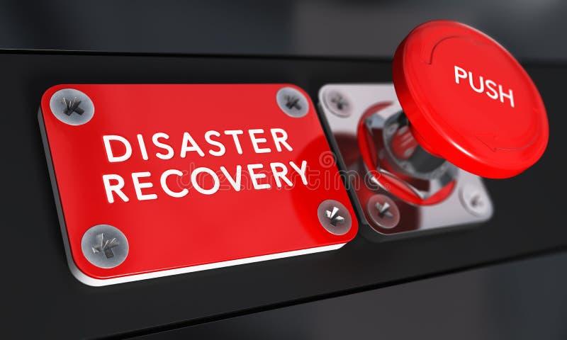 Plano de recuperação de desastre, DRP ilustração stock