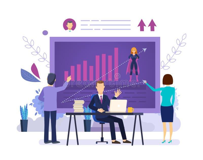 Plano de treinamento da liderança Análise das habilidades e das realizações, treinamentos do negócio ilustração stock