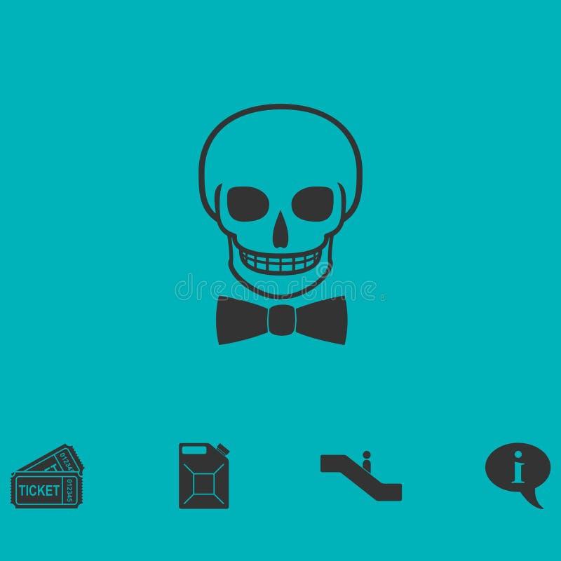 Plano del icono del cráneo libre illustration