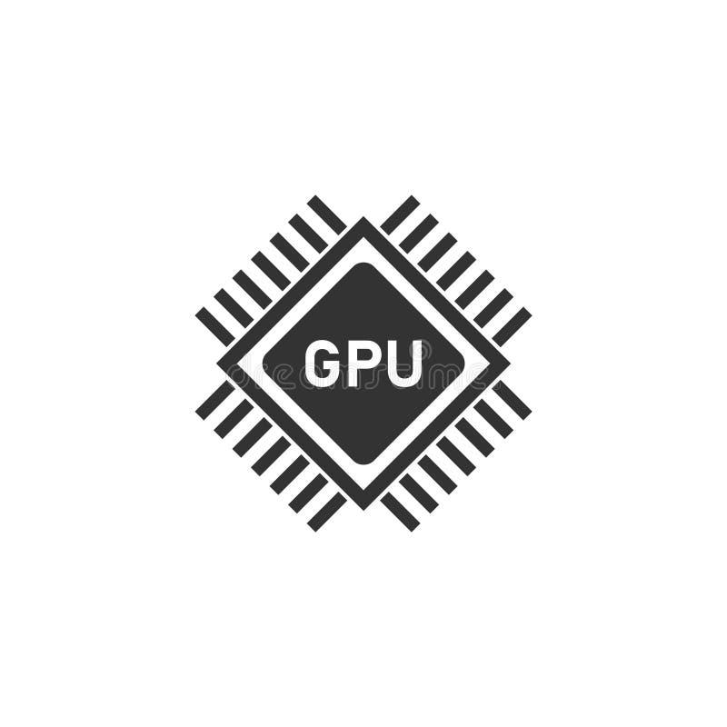 Plano del icono de Gpu ilustración del vector