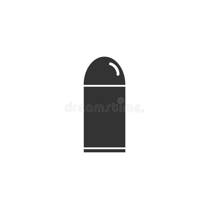 Plano del icono de la bala ilustración del vector