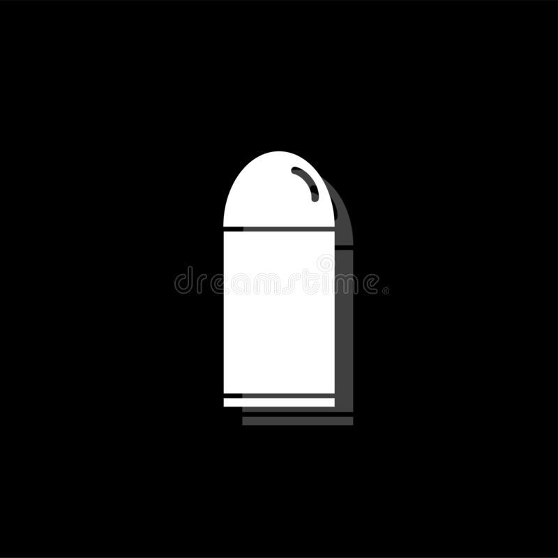 Plano del icono de la bala libre illustration