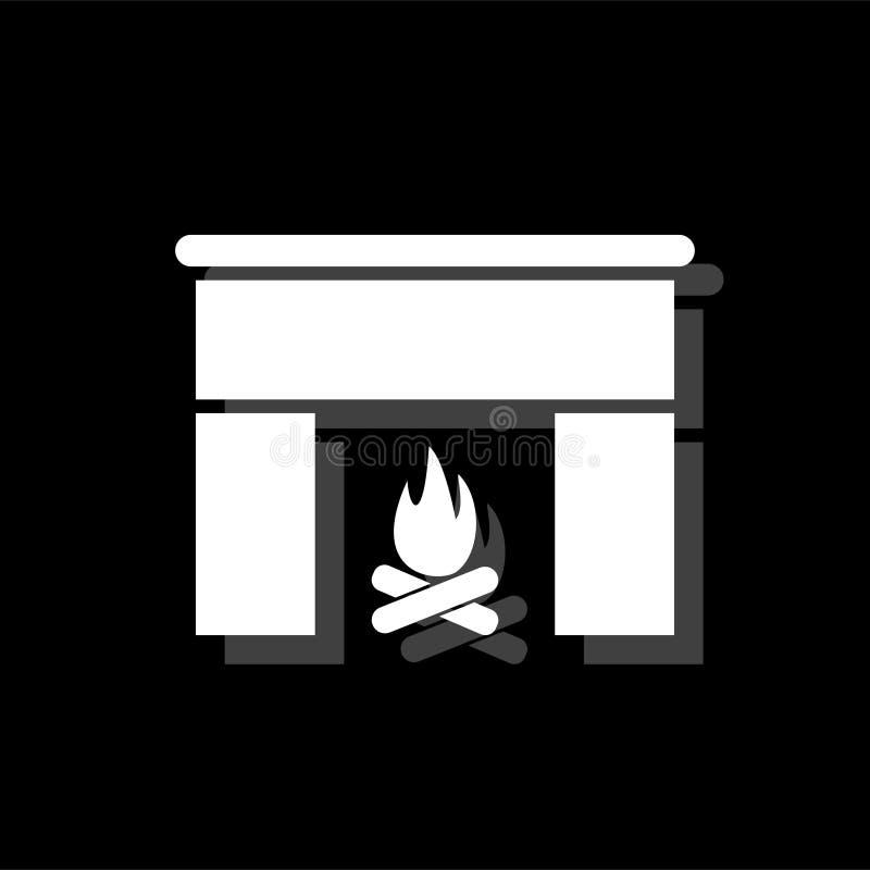 Plano del icono de la chimenea ilustración del vector