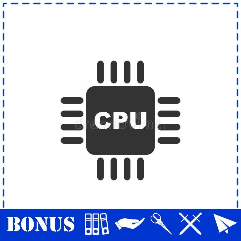 Plano del icono de la CPU stock de ilustración