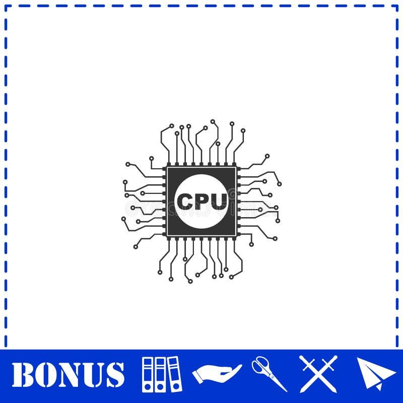 Plano del icono de la CPU libre illustration