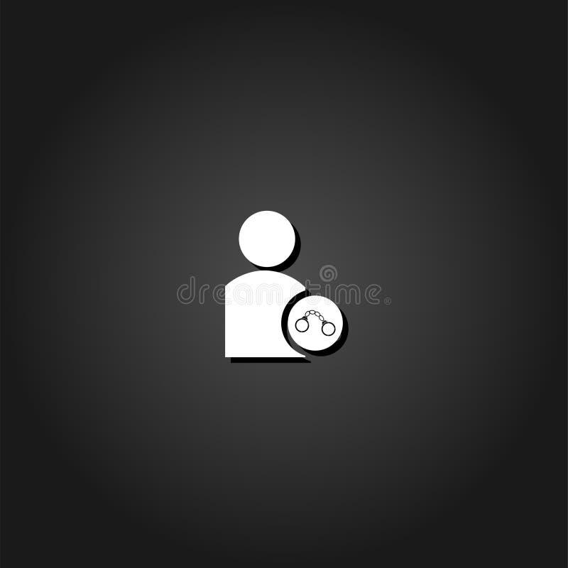 Plano del icono de la detención libre illustration