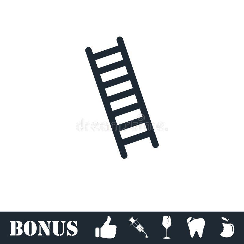 Plano del icono de la escalera libre illustration