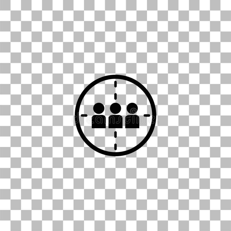 Plano del icono de la matanza ilustración del vector