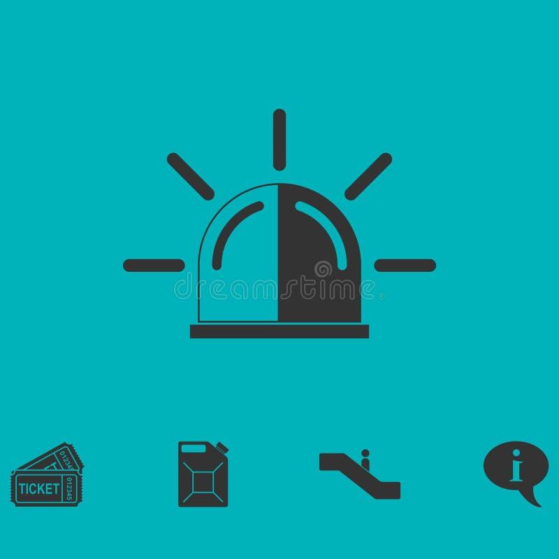 Plano del icono de la sirena libre illustration