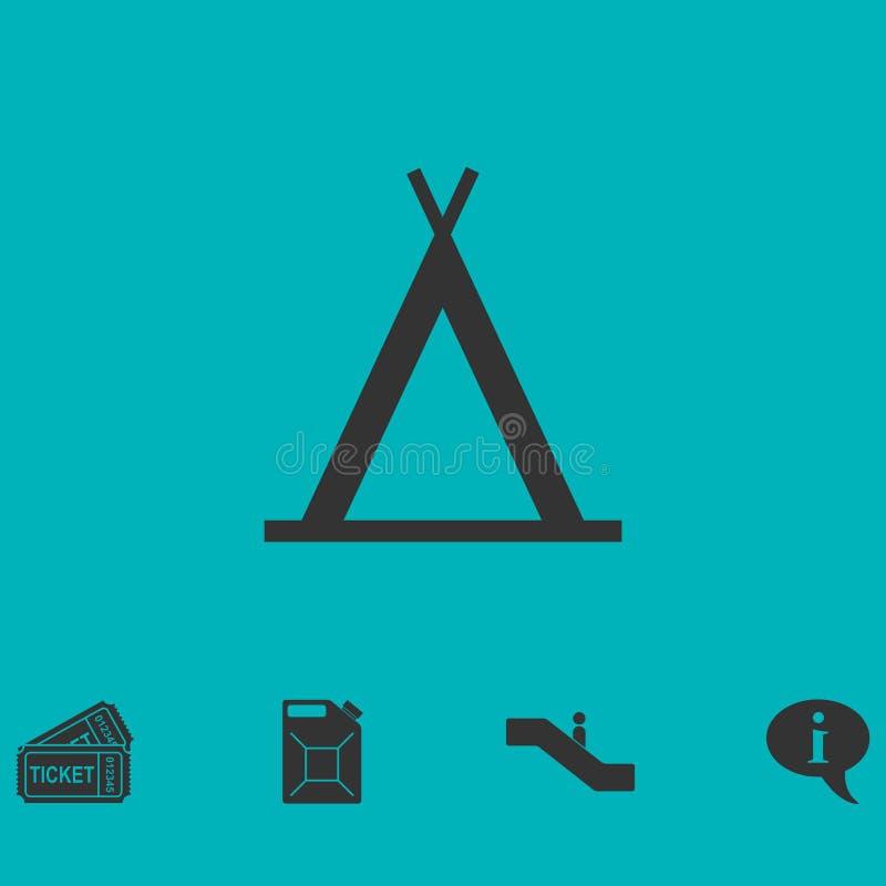 Plano del icono de la tienda india stock de ilustración