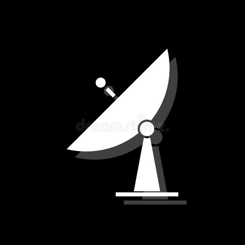 Plano del icono de la TV vía satélite stock de ilustración
