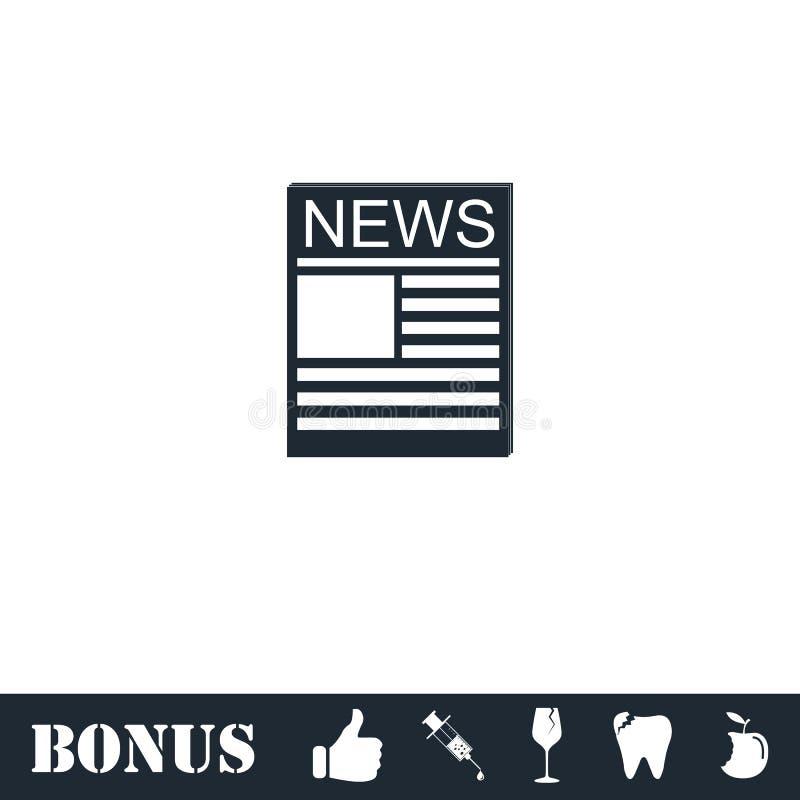 Plano del icono de las noticias libre illustration