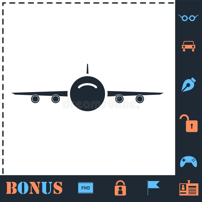 Plano del icono de los aviones stock de ilustración
