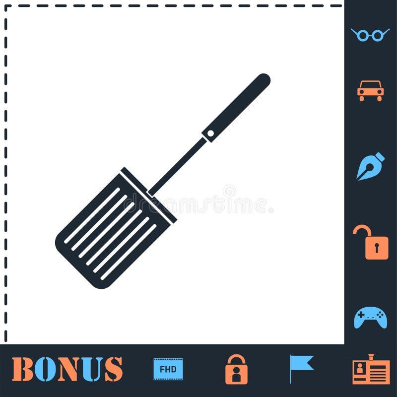 Plano del icono de los cortadores ilustración del vector