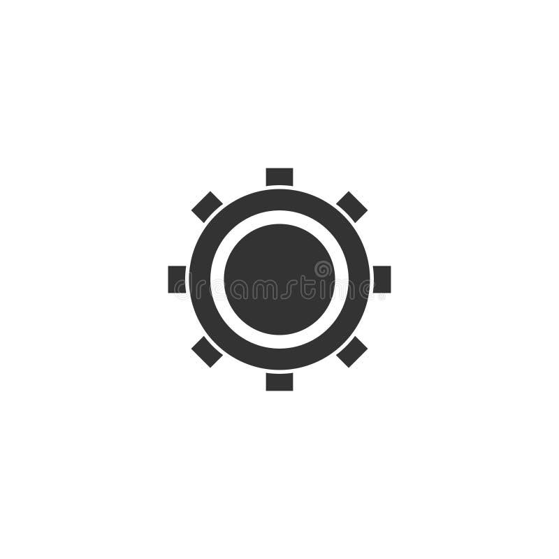 Plano del icono del diente stock de ilustración