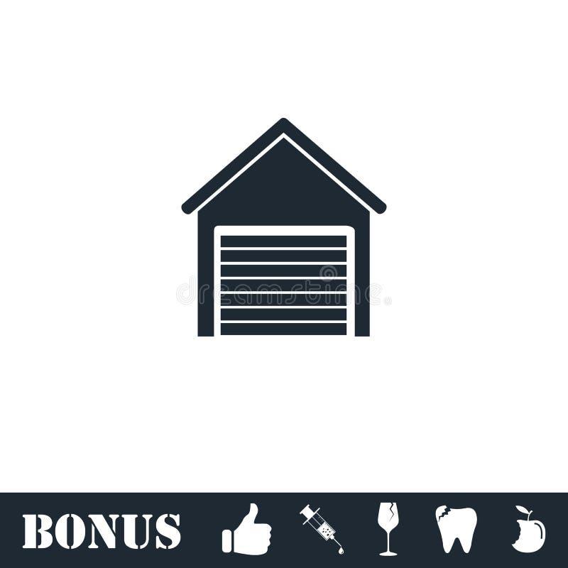 Plano del icono del garaje stock de ilustración