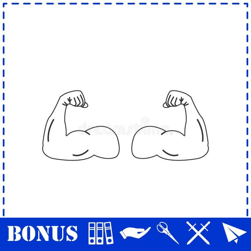Plano del icono del gimnasio libre illustration