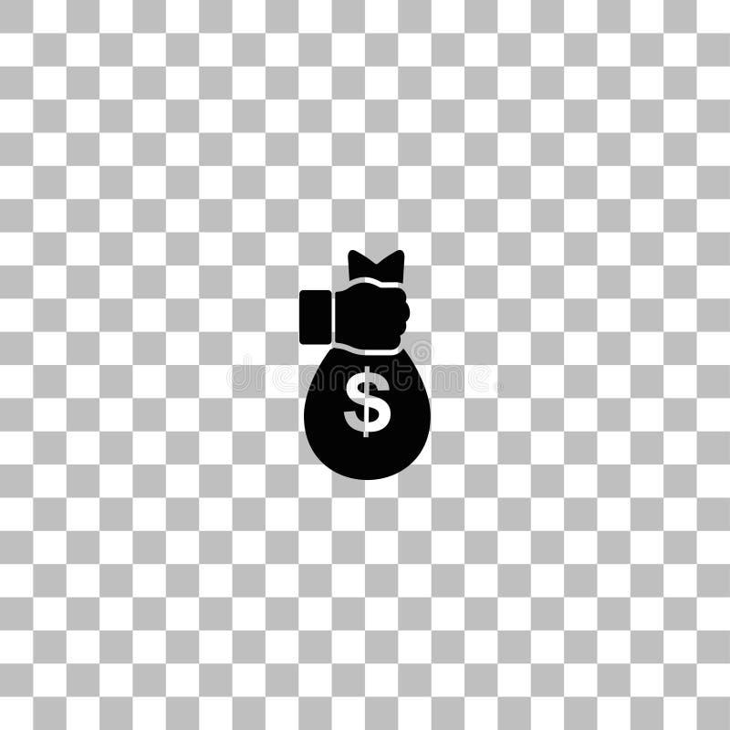 Plano del icono del robo stock de ilustración