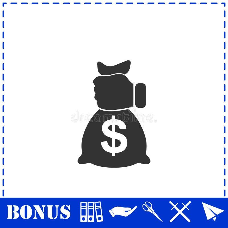 Plano del icono del robo libre illustration