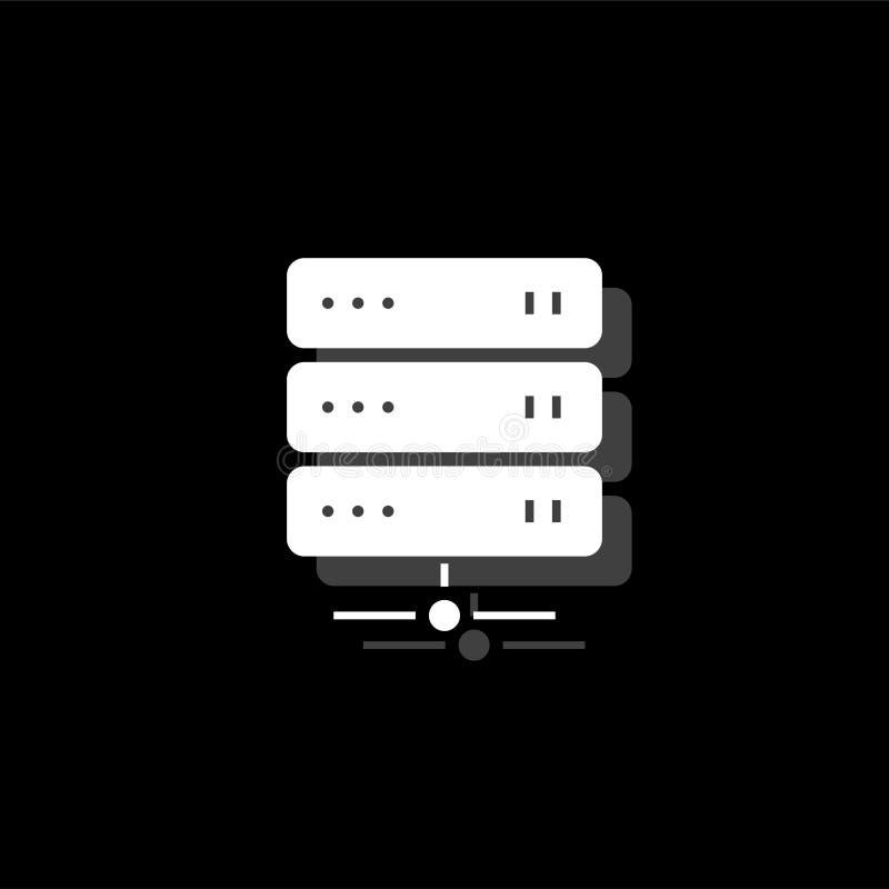 Plano del icono del servidor stock de ilustración